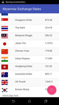 Myanmar Exchange Rates poster