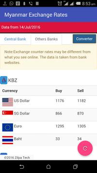 Myanmar Exchange Rates apk screenshot