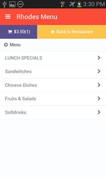 Rhodes Menu screenshot 1