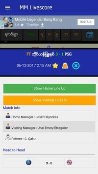 MM Livescore apk screenshot