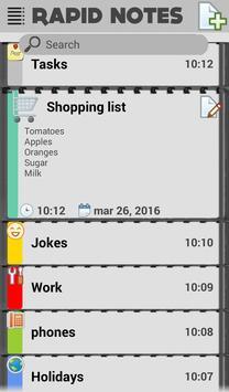 Notebook apk screenshot