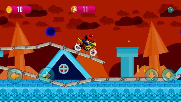 Crazy Spider Motorbike Run screenshot 1