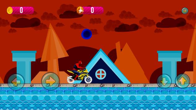 Crazy Spider Motorbike Run screenshot 2