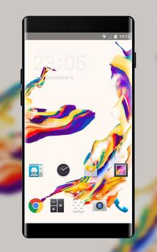 Theme for Moto G4 Plus: Color Abstract Skin poster