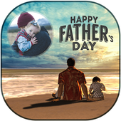 Fathers Day Photo Frame Editor 2018 icon