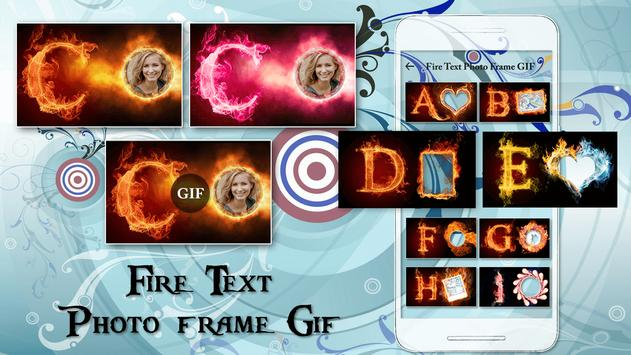 Fire Text Photo Frame Editor poster