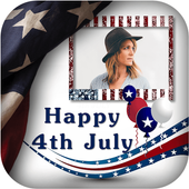 4th July GIF Photo Frame / 4th of July Photo Frame icon