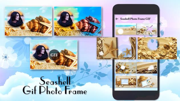 Seashell Photo Frame poster