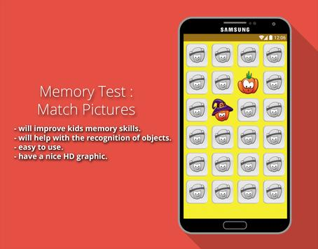 Memory Test : Match Pictures screenshot 1