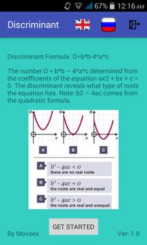 Discriminant Counter poster