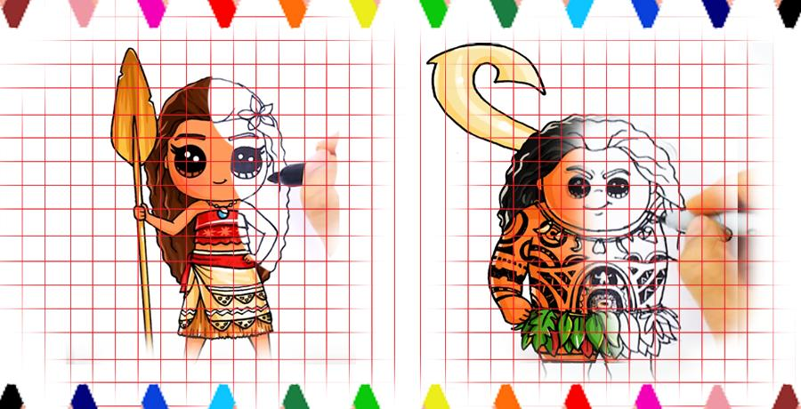 how to draw Moana characters for Android - APK Download