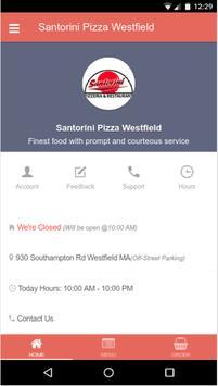 Santorini Pizza Westfield poster