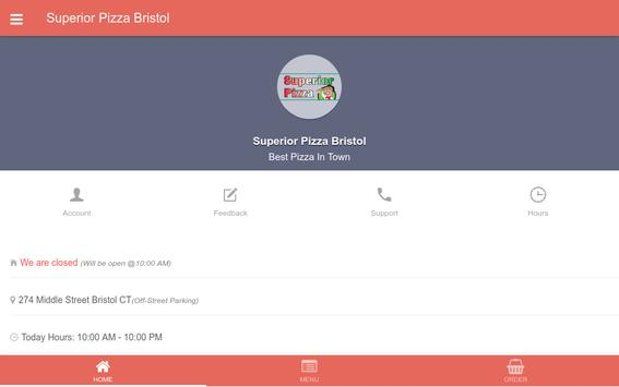 Superior Pizza of Bristol apk screenshot