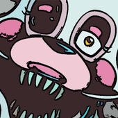 How to draw Mangle FNAF icon