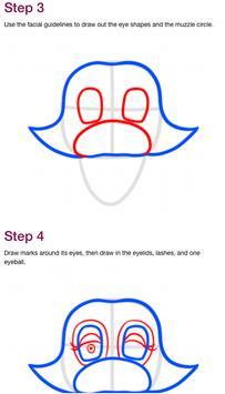 How to draw Mangle FNAF screenshot 1