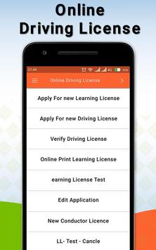 Driving Licence Online Apply poster