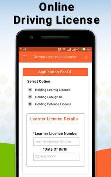 Driving Licence Online Apply screenshot 1