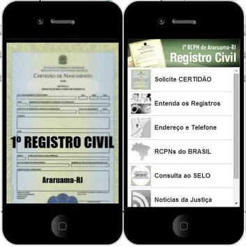 1º REGISTRO CIVIL de ARARUAMA poster