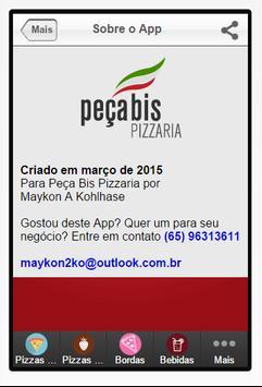 Peça Bis Pizzaria apk screenshot