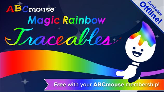 ABCmouse Magic Rainbow Traceables® poster