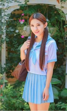 Hot Girls in School Uniform poster