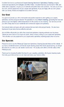ExcellentServices Carpet and Upholstery Cleaning screenshot 1