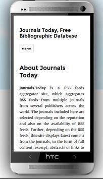 Journals Today Biblio Database poster