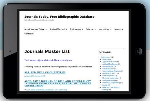 Journals Today Biblio Database screenshot 1