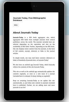 Journals Today Biblio Database screenshot 2