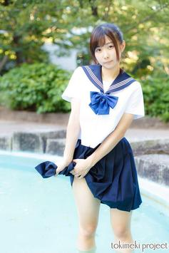 Cute High School Uniform Girl Wallpapers poster