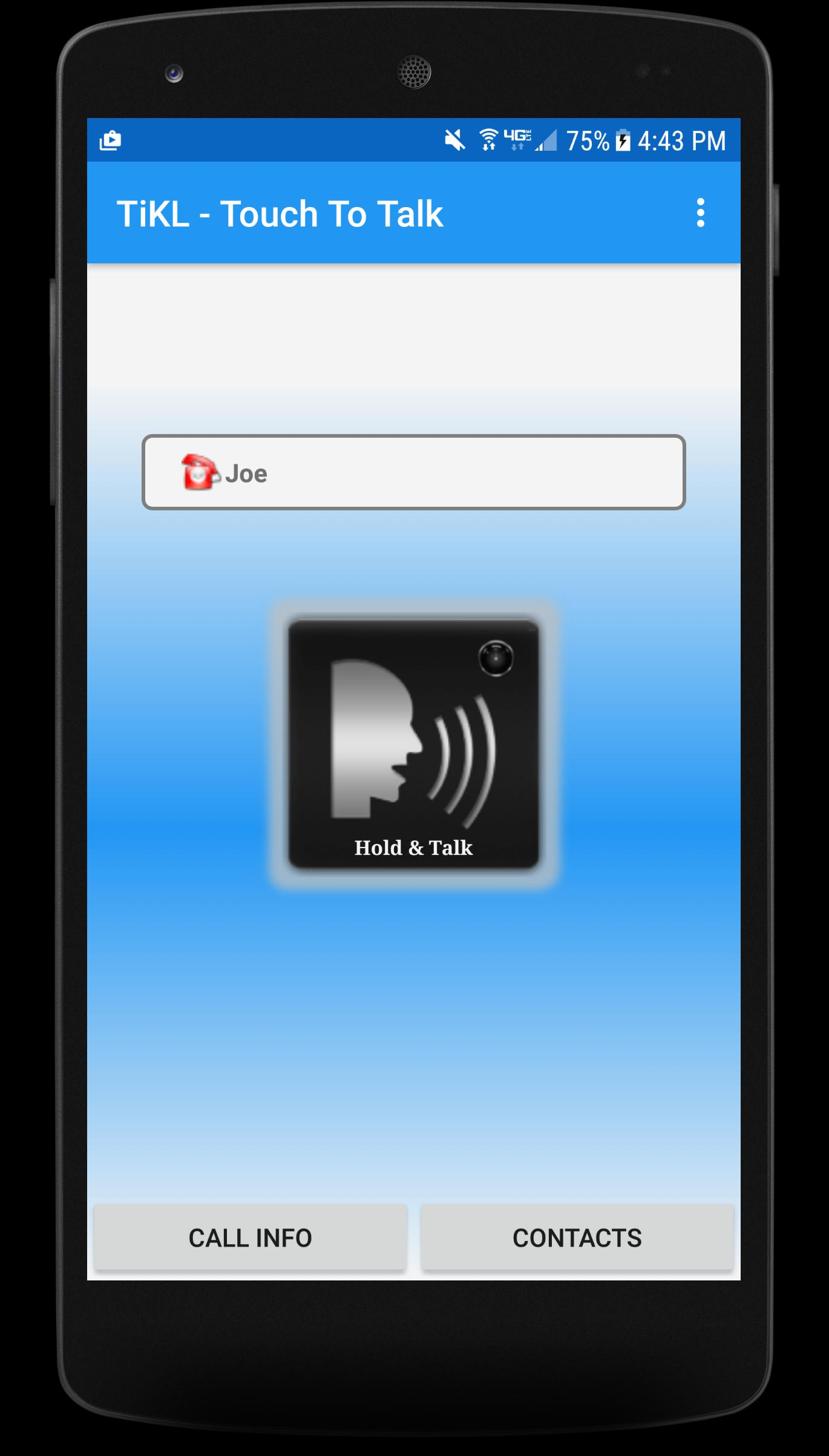 TiKL Touch Talk Walkie Talkie for Android - APK Download