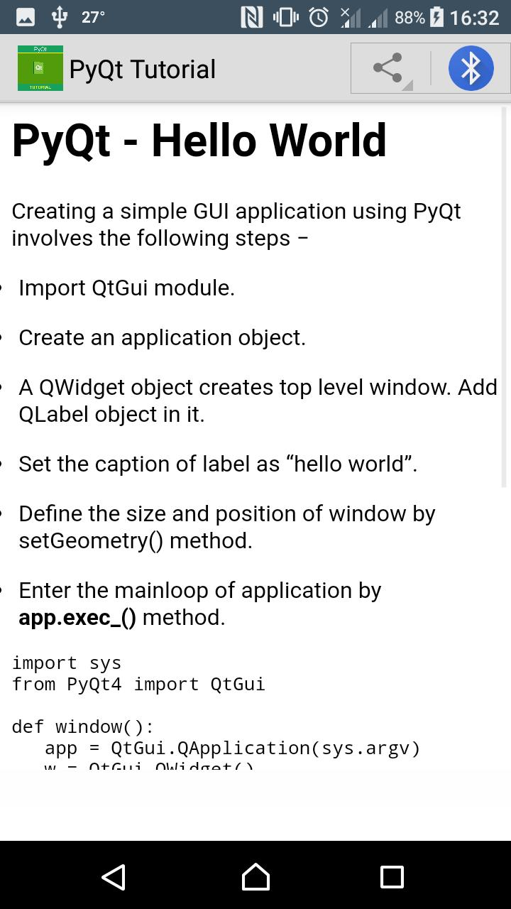 PyQt Tutorial for Android - APK Download