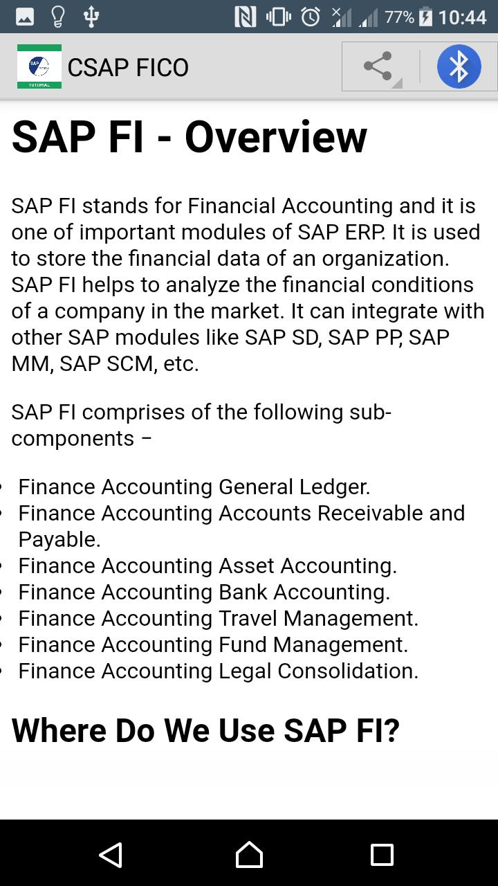 Learn SAP FICO for Android - APK Download
