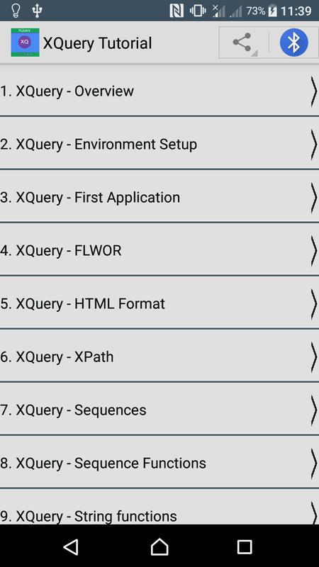 Xquery Tutorial Apk Download Free Books Reference App For