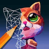 PolyGO - LowPoly Coloring book for adults