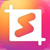 Square Photo Editor, Emoji, No Crop, Collage icon