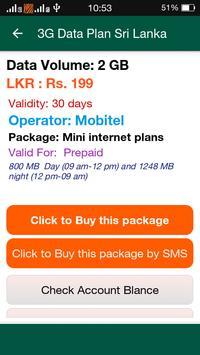 4G Data Plan Sri Lanka apk screenshot