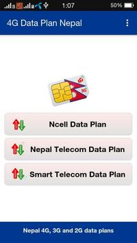 4G Data Plan Nepal poster