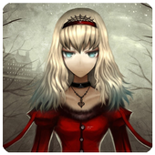 Goth Anime Red Dress Wallpaper icon