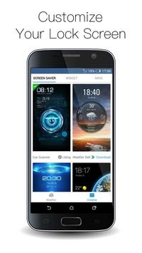 Clock weather fingerprint lock screen for prank screenshot 6