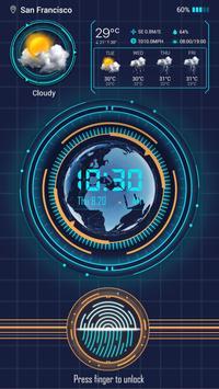 Fingerprint Lock with World Weather&Clock Prank apk screenshot
