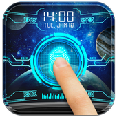 Space Fingerprint Lock Screen prank icon