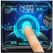 Space Fingerprint Lock Screen prank icon