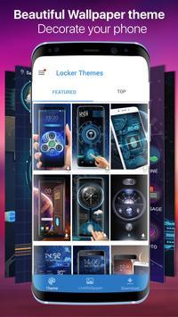 Space fingerprint style lock screen for prank screenshot 4