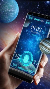 Space fingerprint style lock screen for prank screenshot 1