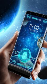Space fingerprint style lock screen for prank screenshot 2