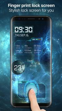 Space fingerprint style lock screen for prank screenshot 3