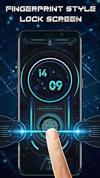 Fingerprint style lock screen for prank पोस्टर