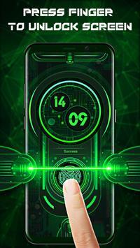 Fingerprint style lock screen for prank स्क्रीनशॉट 1