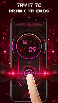 Fingerprint style lock screen for prank स्क्रीनशॉट 2